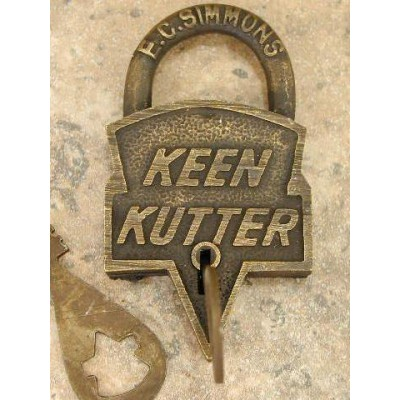 Old Western Keen Kutter Lock And Keys Movie Props