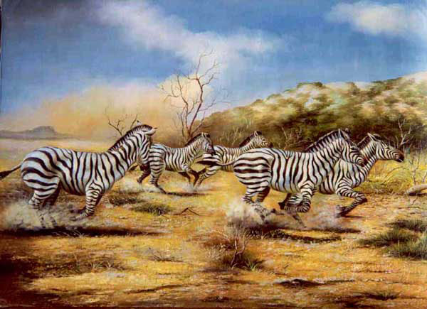 zebra oil painting - photo #22