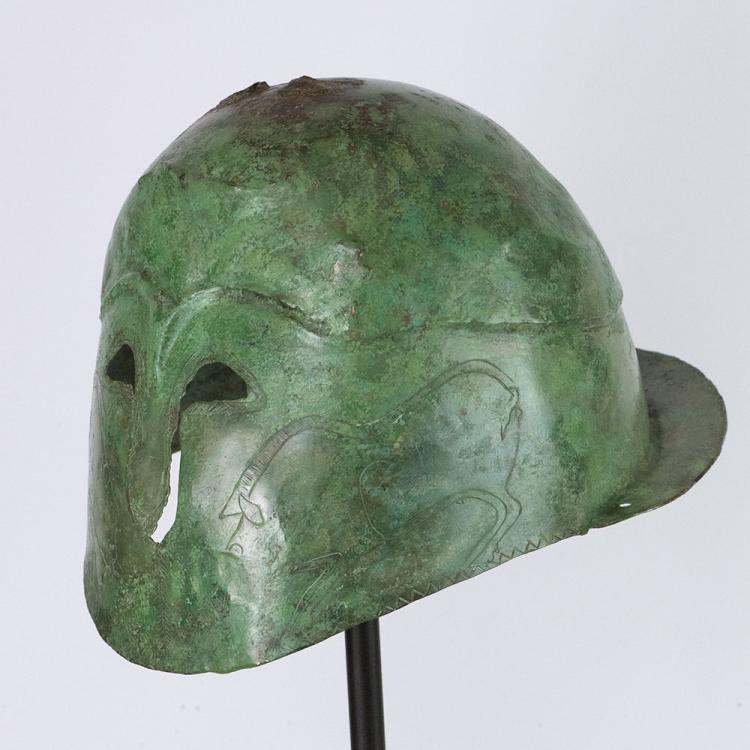 A Greek Bronze Helmet of Apulo-Corinthian Type, ca 4th century BC