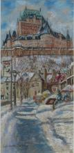 LUCIENNE ZEGRAY PASTEL OF QUEBEC CITYSCAPE