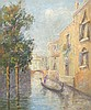 DOMENICO RICCITELLI  PAINTING OF A VENETIAN CANAL, Domenico Riccitelli, Click for value