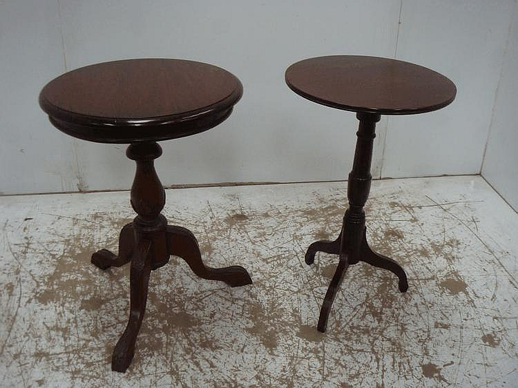 Victorian Mahogany Circular Top Tripod Table + One