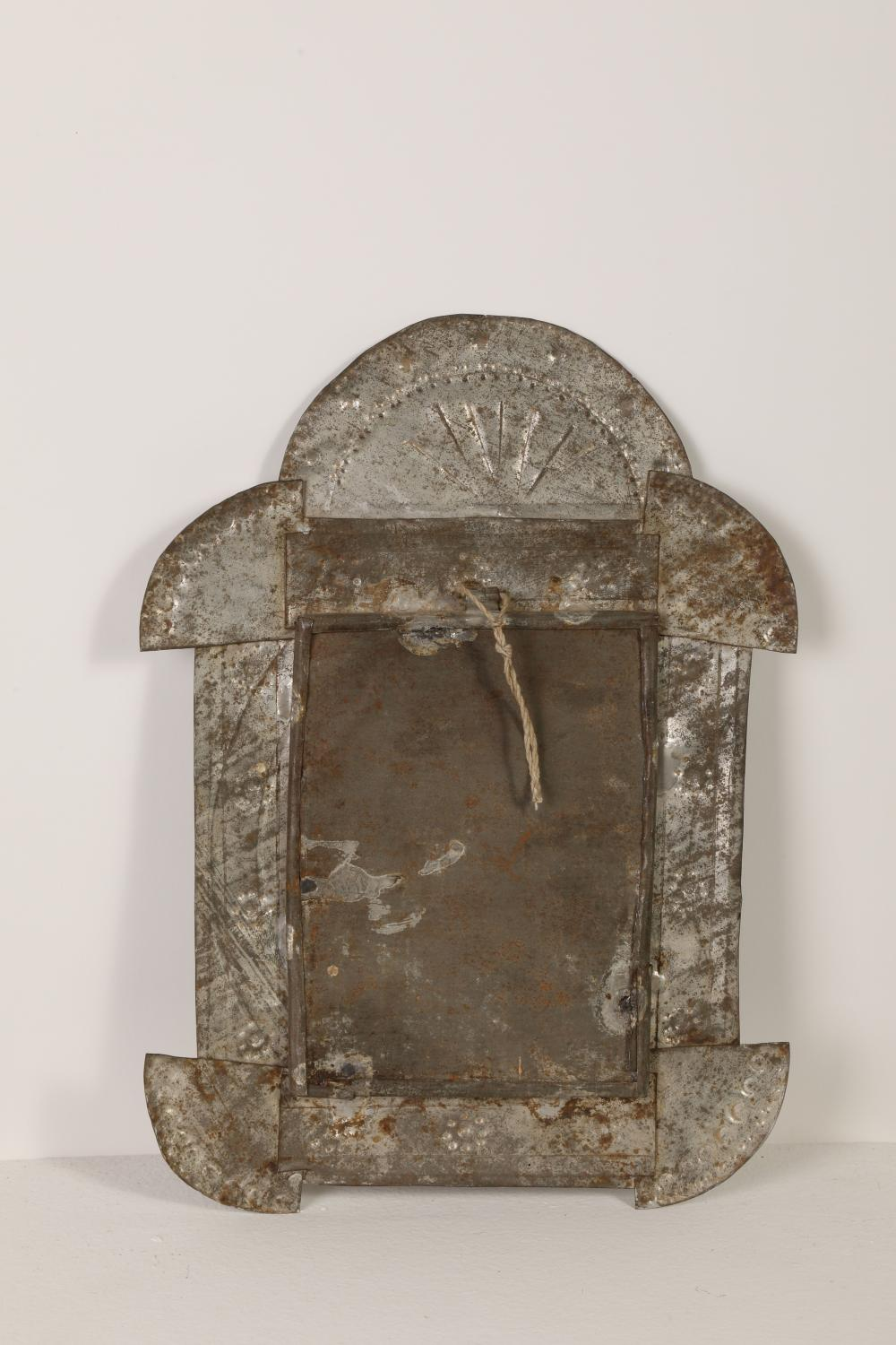 Tin Frame with Devotional Print, ca. 1885-1910