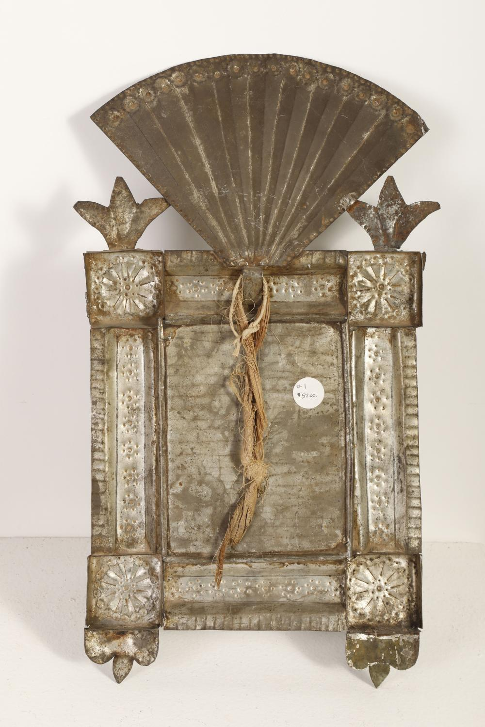 Tin Frame with Devotional Print, ca. 1870