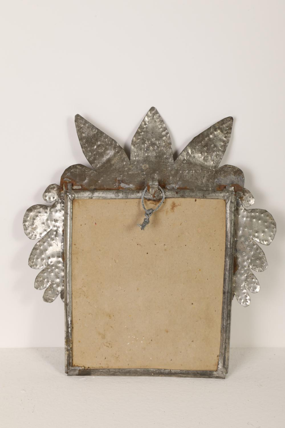 Tin Frame with Photos and Devotional Card