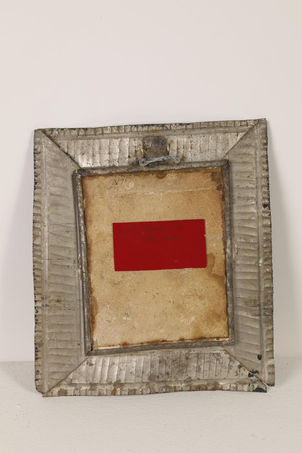 Tin Frame with Devotional Print, ca. 1900
