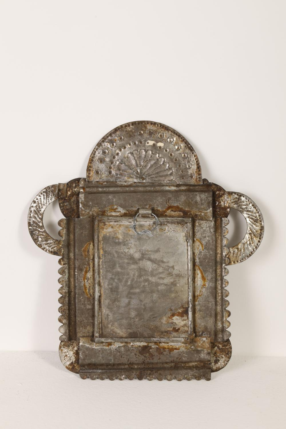 Tin Frame with Devotional Print, ca. 1870-1895