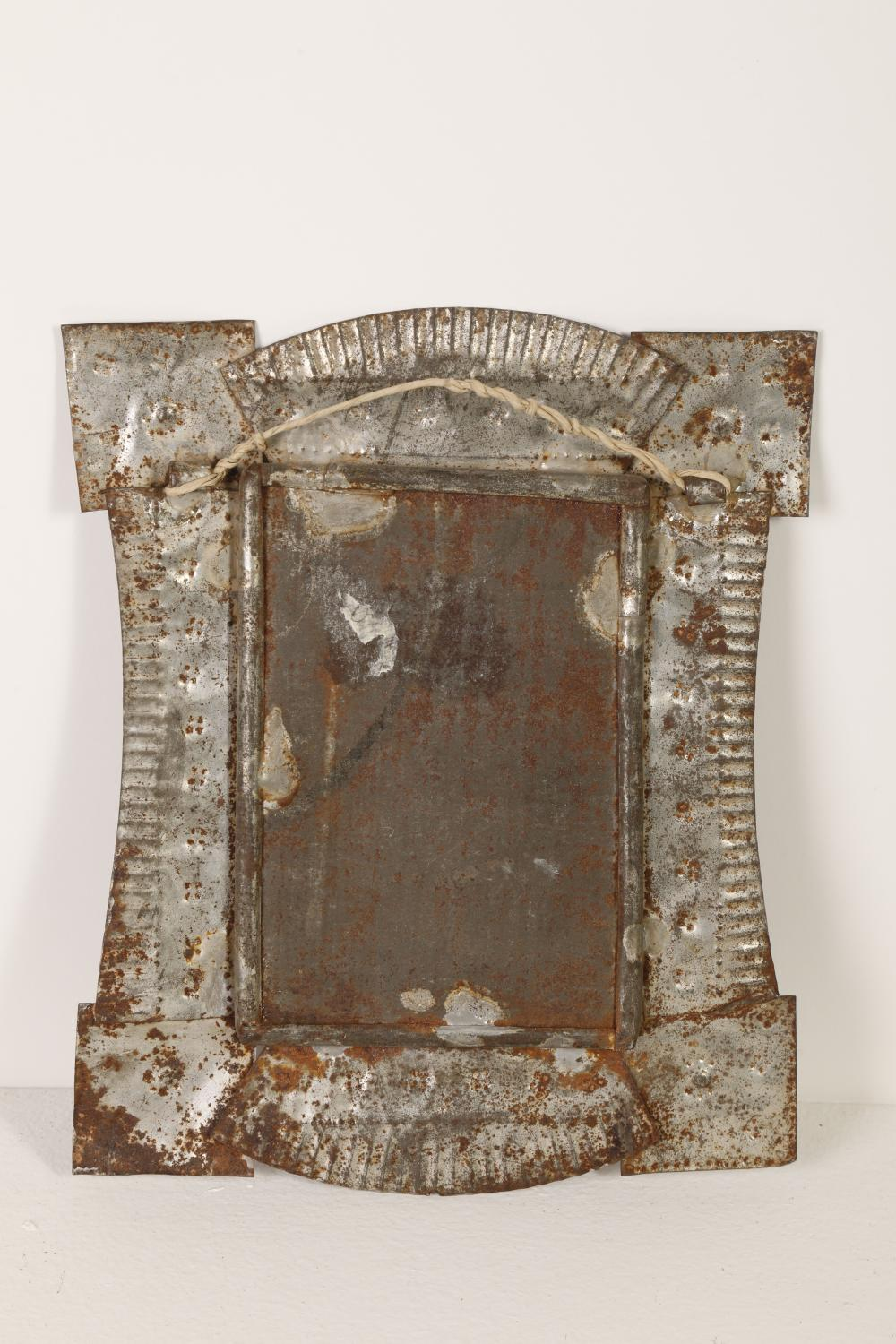 Two Tin Frames with Devotional Cards