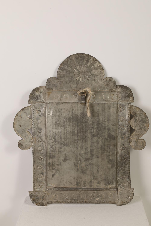 Tin Frame with Devotional Print, ca. 1879