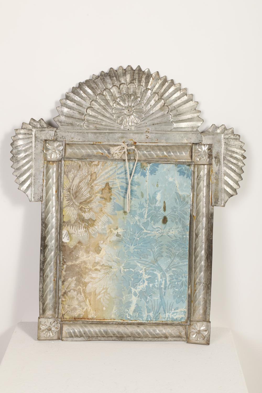 Tin Frame with Devotional Print, ca. 1860-1870
