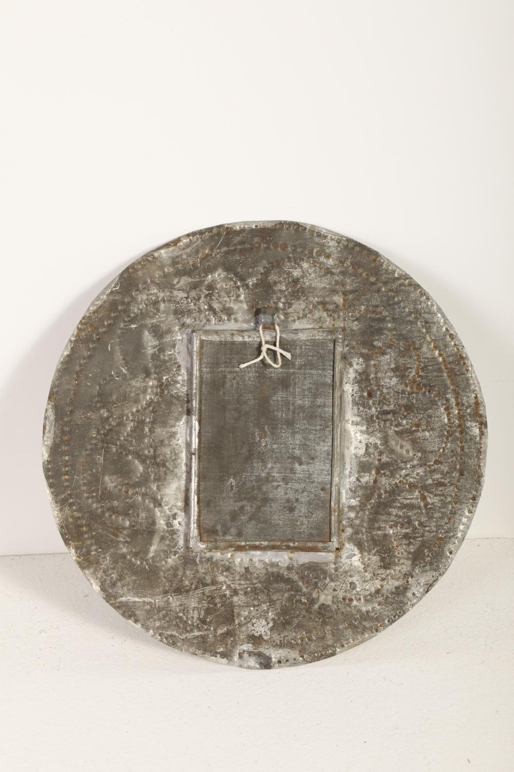 Tin Candle Sconce with Devotional Card