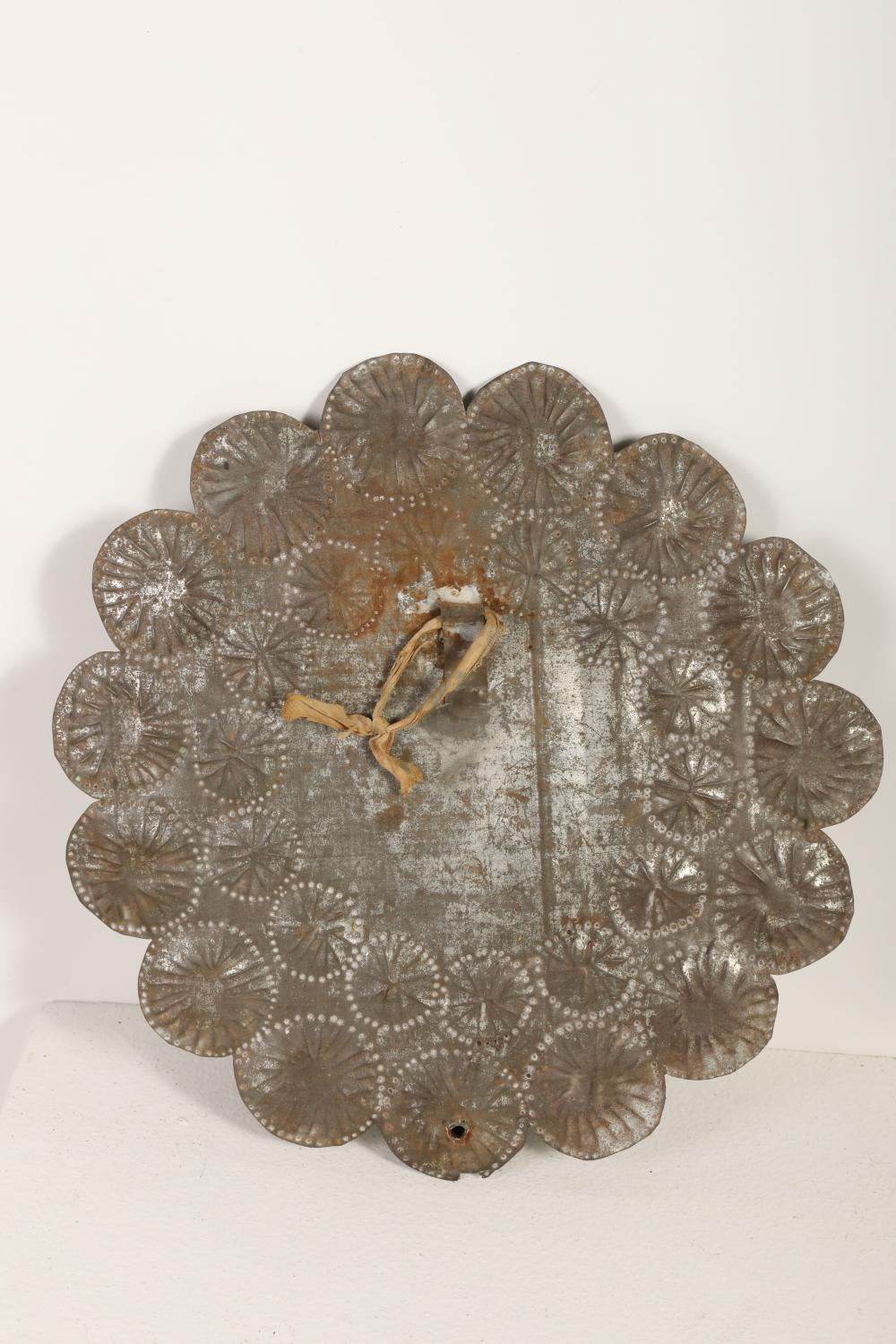 Tin Frame Candle Sconce, ca. 1870-1900