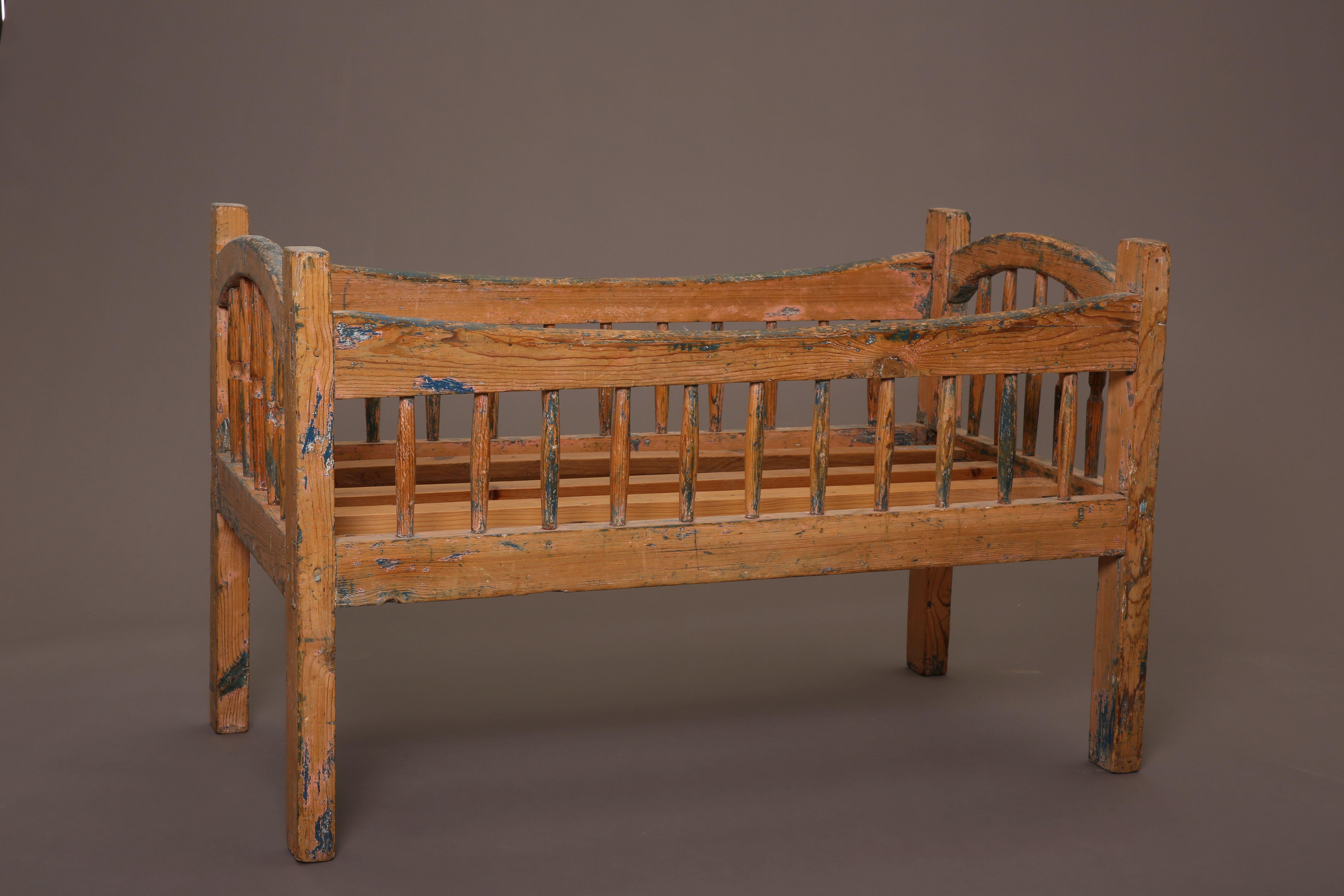 New Mexico, Painted Children's Crib, ca. 1900