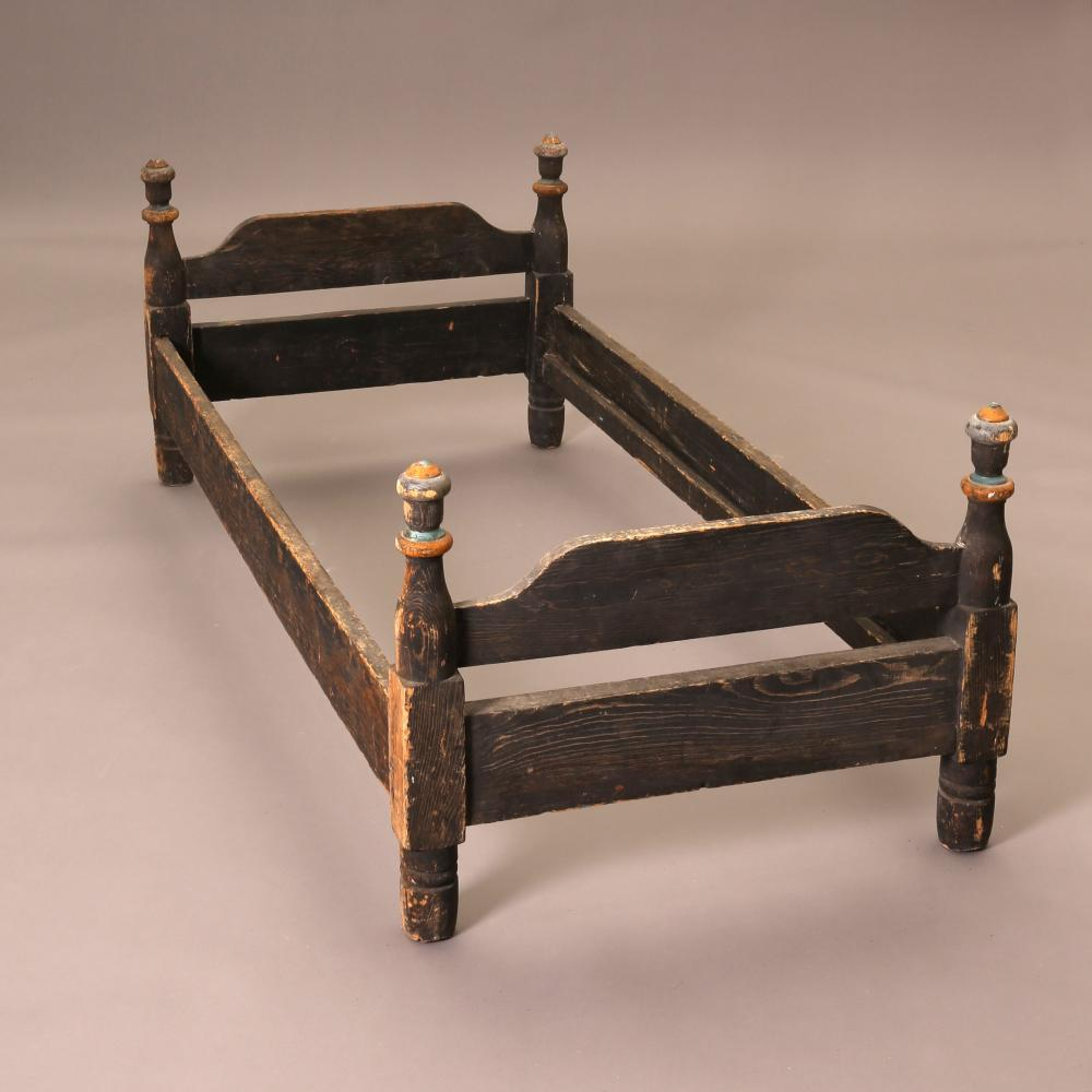 New Mexico, Painted Wooden Bed, 19th Century
