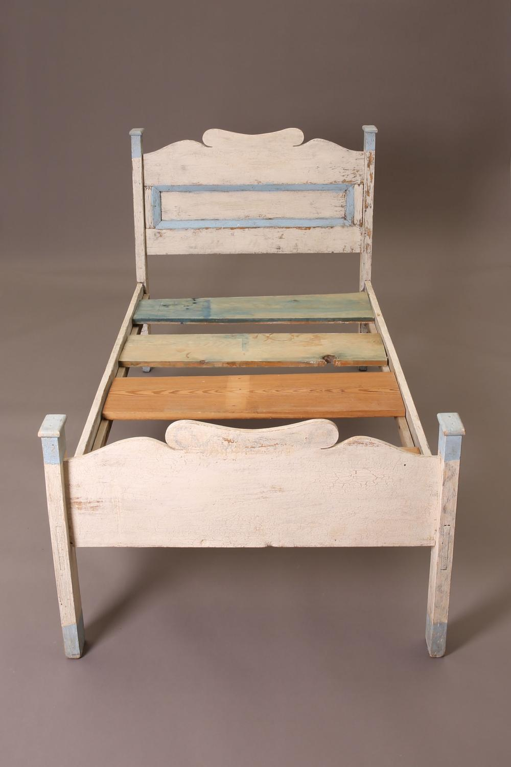 New Mexico, Painted Wooden Bed, ca. 1900