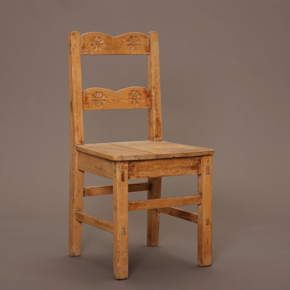 New Mexico, Two Wooden Side Chairs, ca. 1930-1940