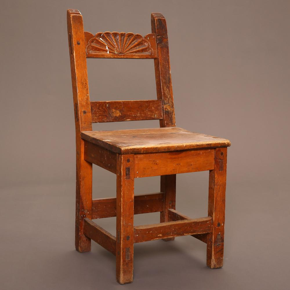 New Mexico, Two Wooden Side Chairs, ca. 1900-1930