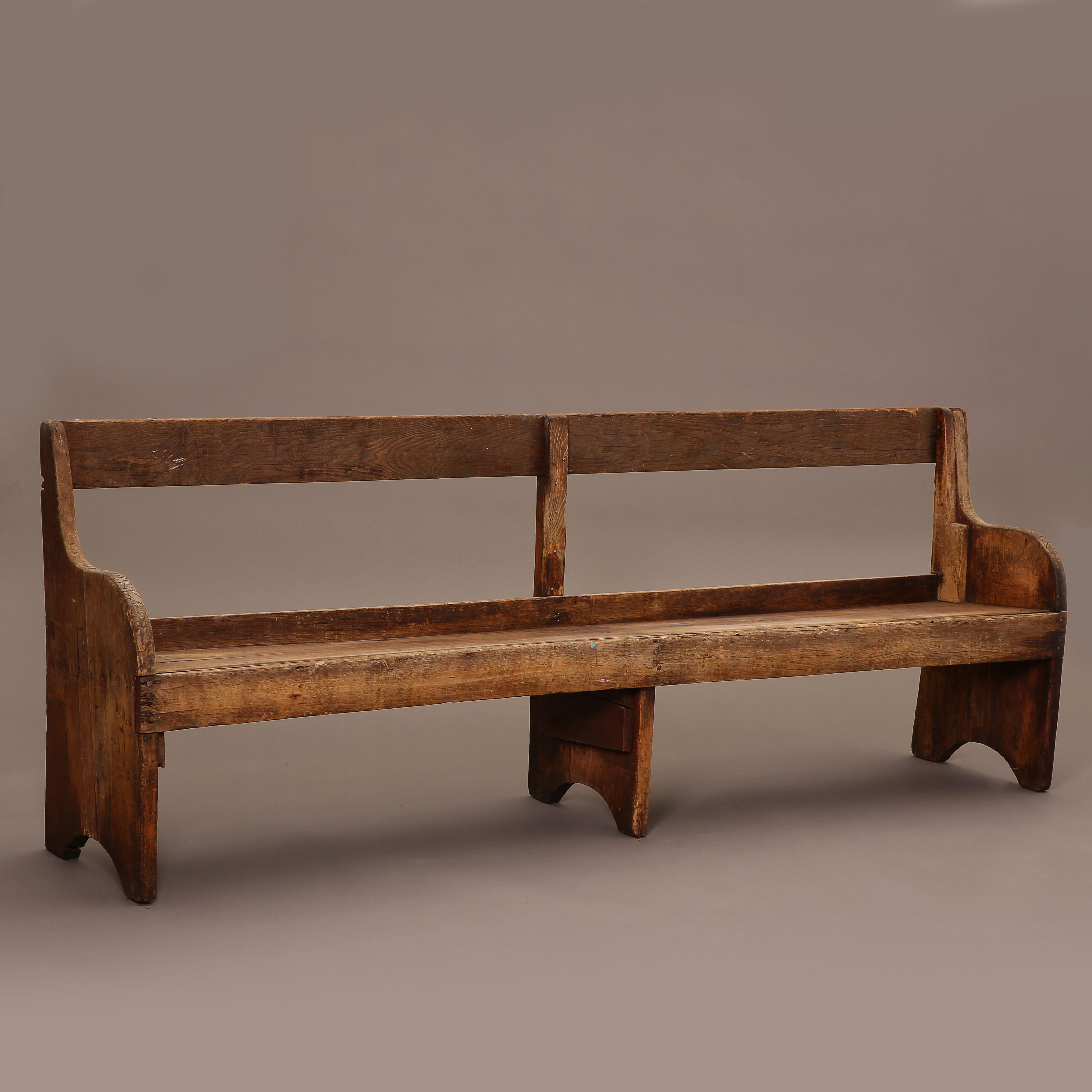 New Mexico, Wooden Banco Bench, ca. 1900