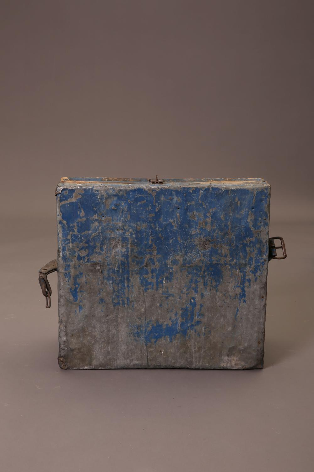 New Mexico, Painted Wooden Stage Coach Chest
