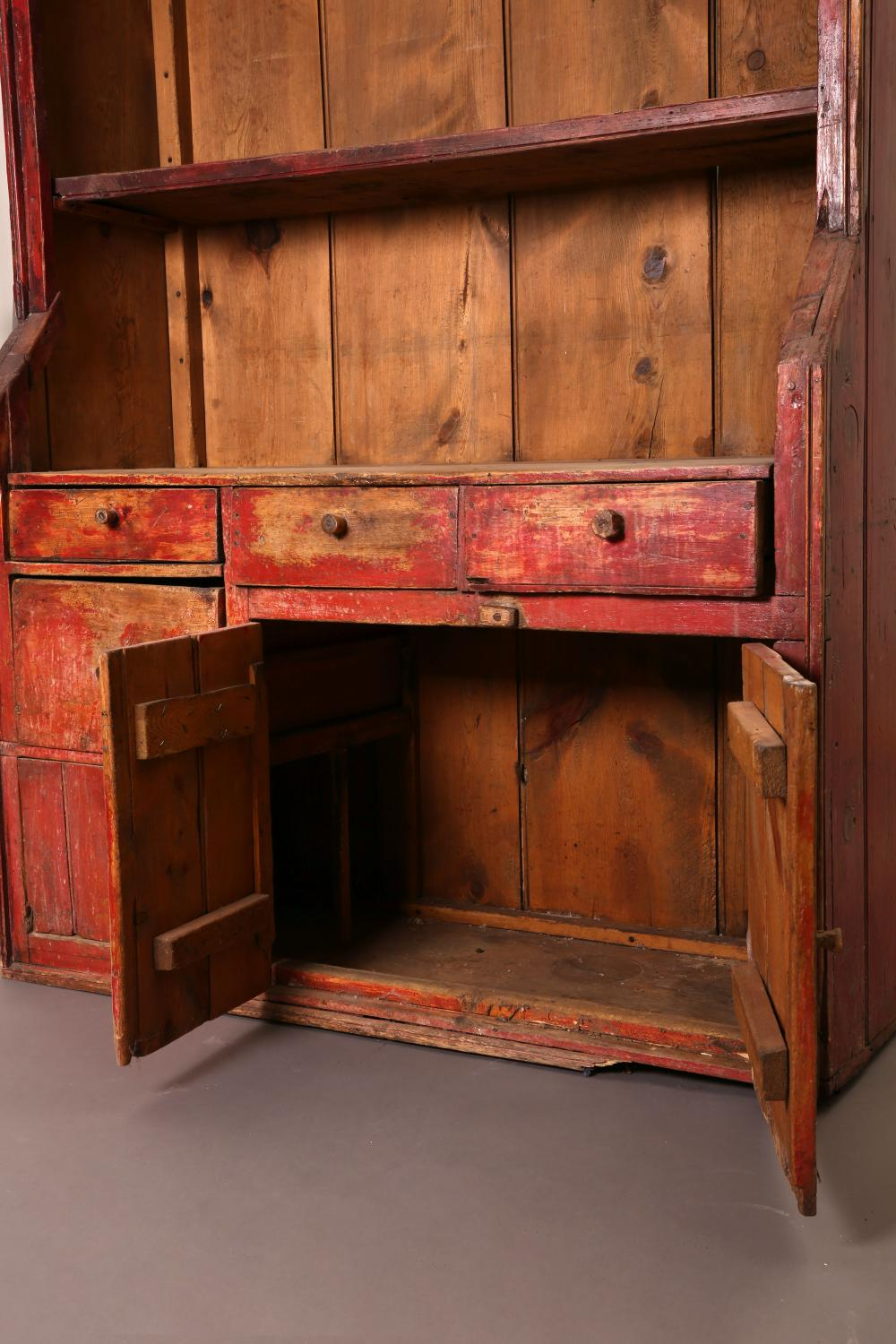 New Mexico, Large Wooden Trastero Hutch, ca. 1900