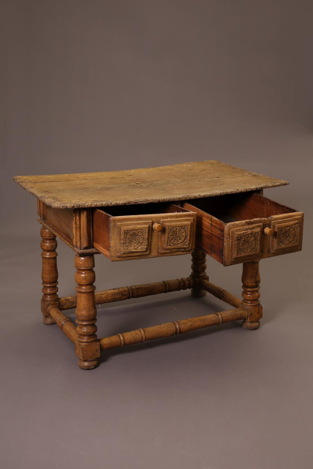 Mexico, Wooden Table with Drawers, ca. 1930