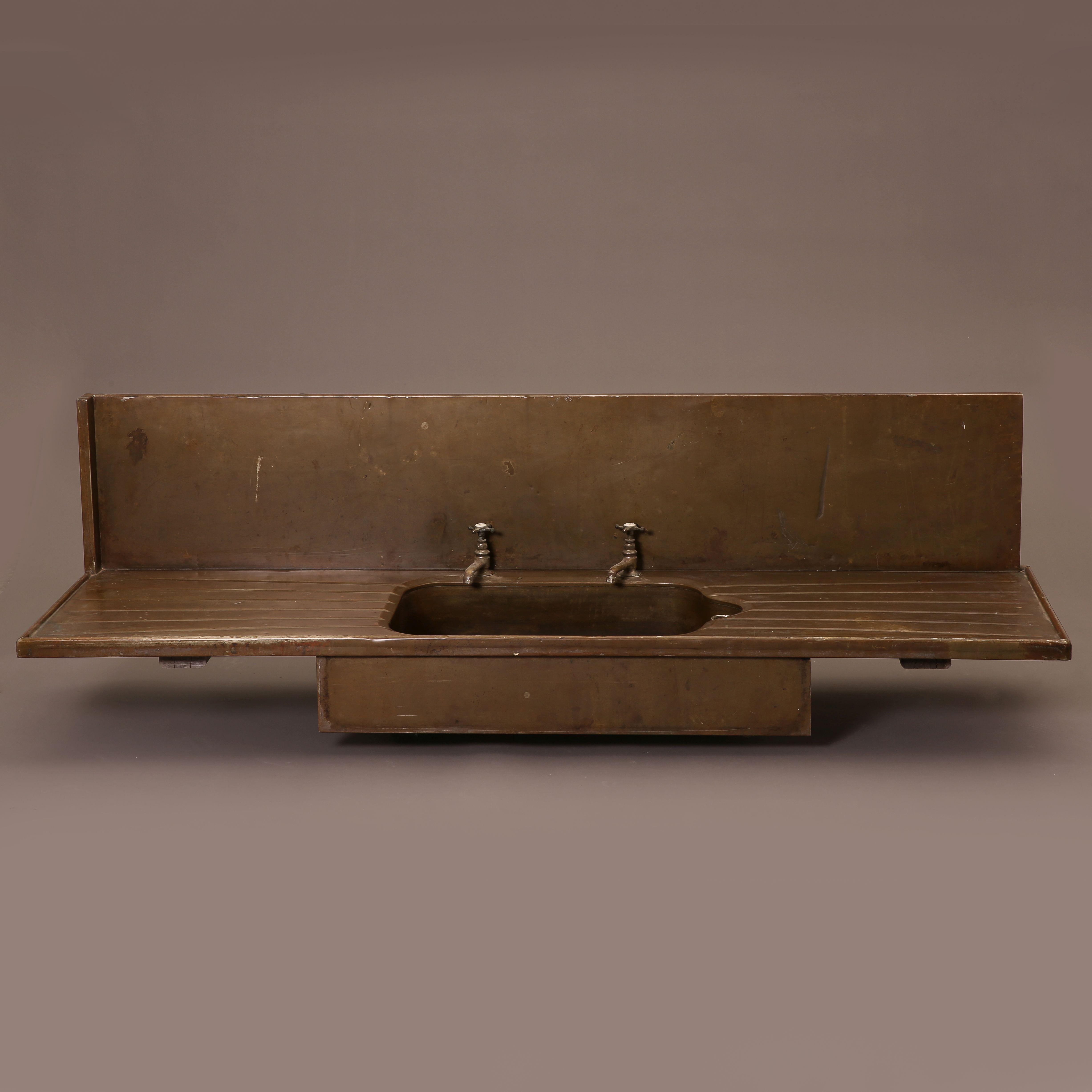 American, Copper and Tin Alloy Kitchen Sink