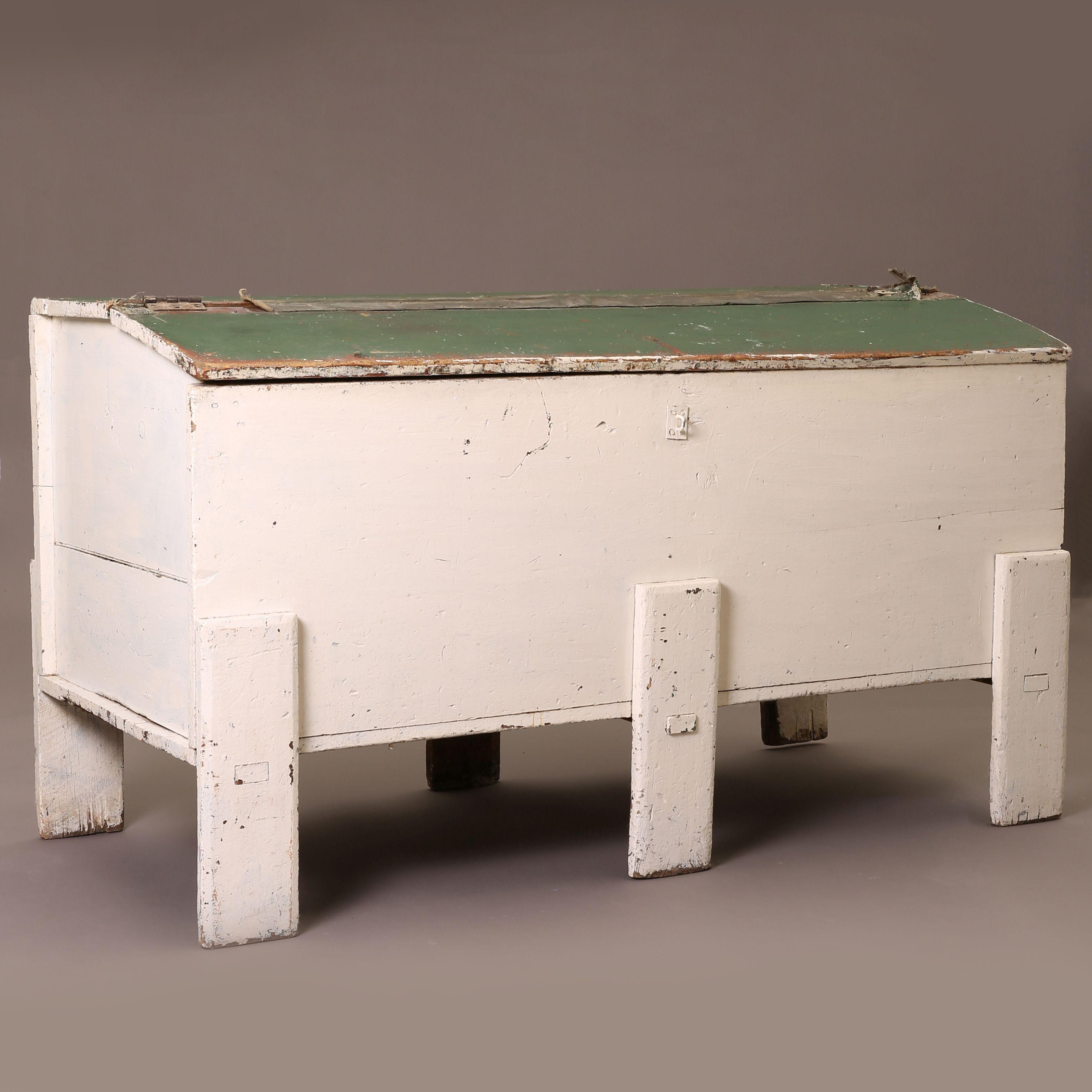 New Mexico, Painted Grain Chest with Legs, 20th c.