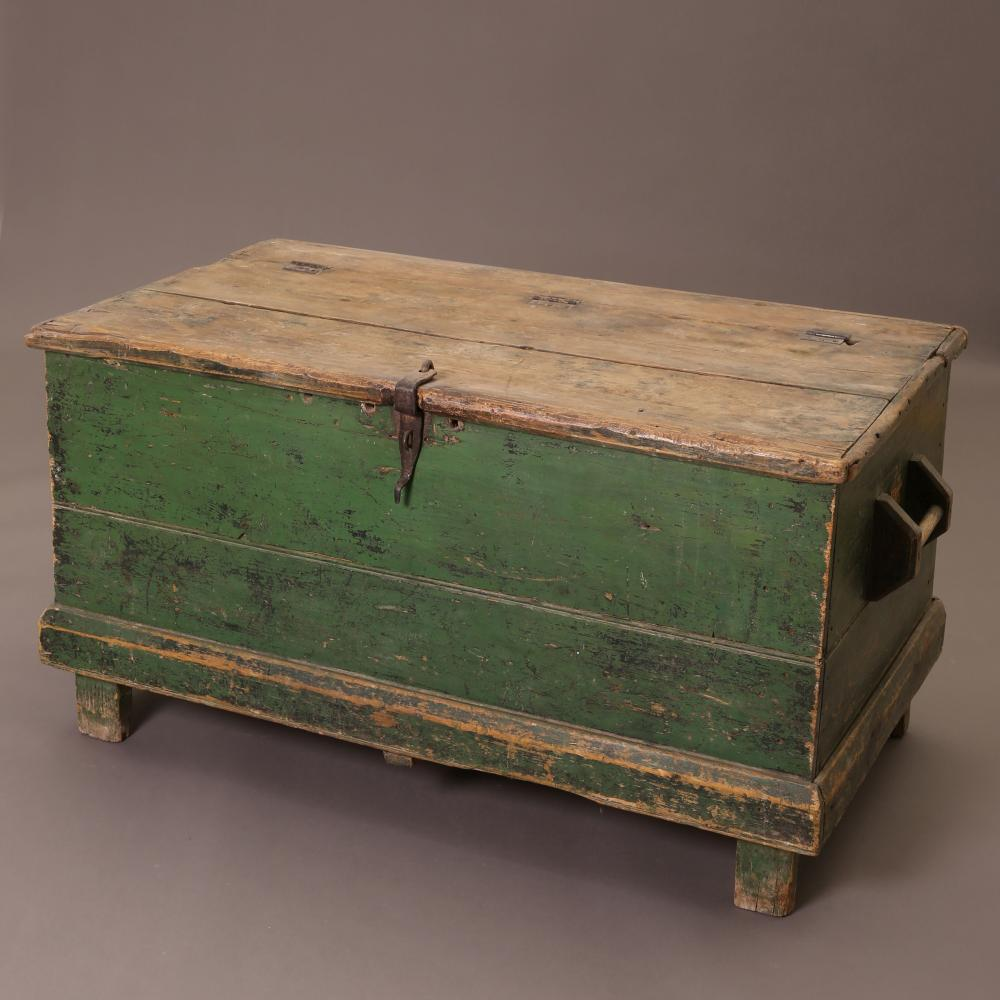 New Mexico, Painted Wooden Chest with Legs