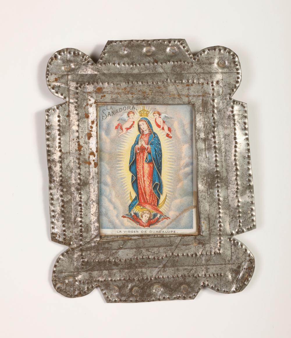 Tin Frame with Devotional Print, ca. 1900