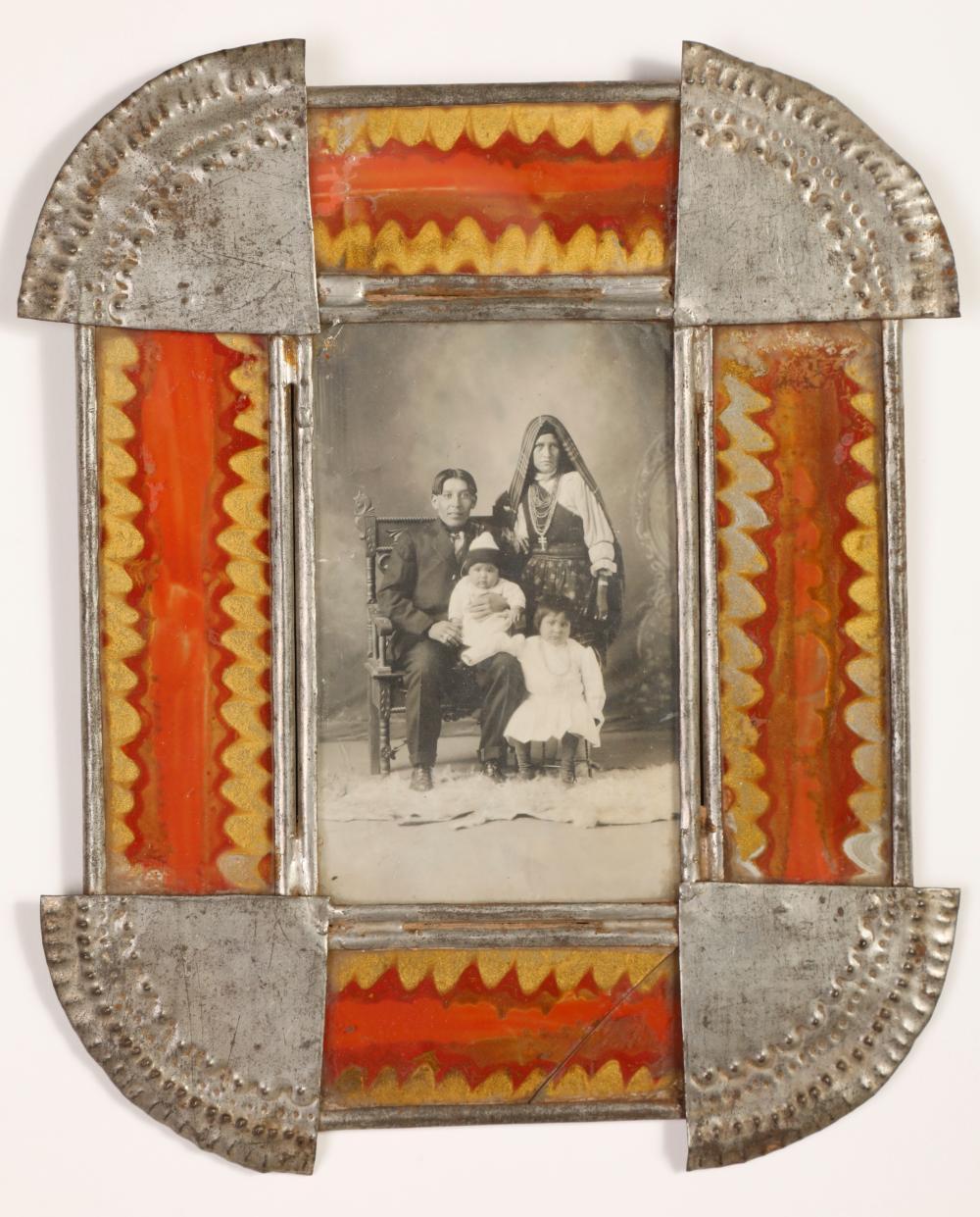 Tin Frame with Photograph, ca. 1890