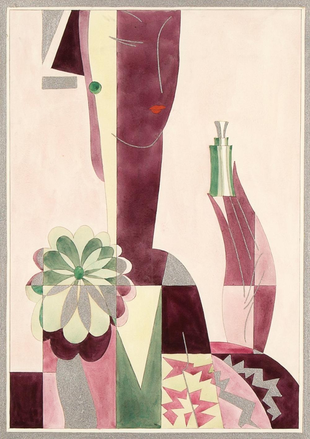 Emil Bisttram, Illustration For Perfume Ad