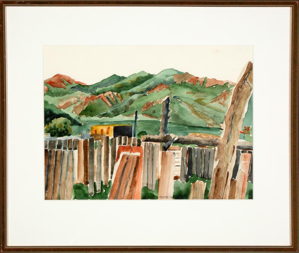 Dean Porter, Fences, Taos Pueblo, 1976