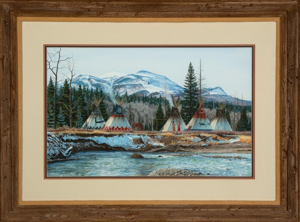 Paul Surber, Blackfeet Camp, 1980