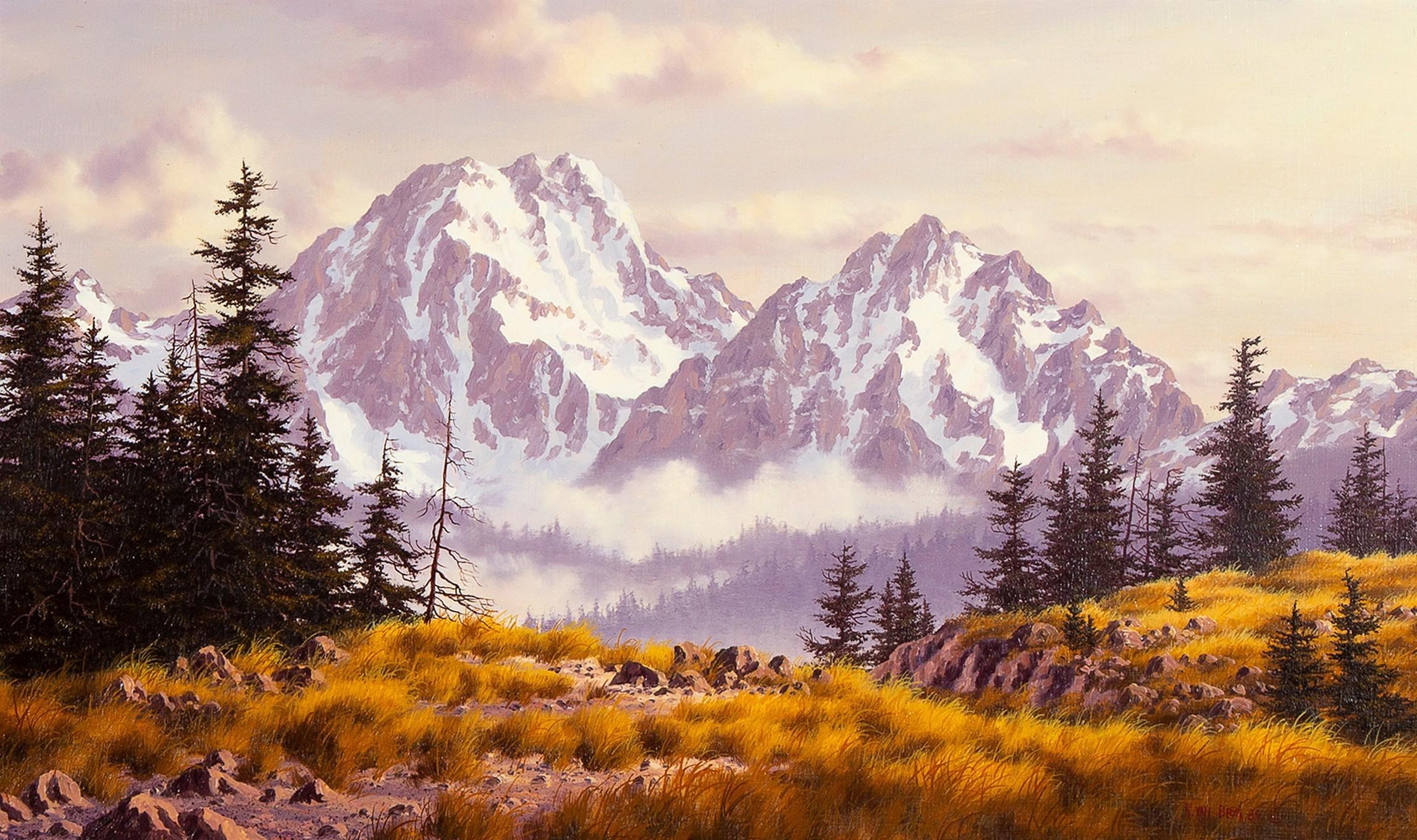 Randy Van Beek, Untitled (Snowy Mountain Landscape), 1984