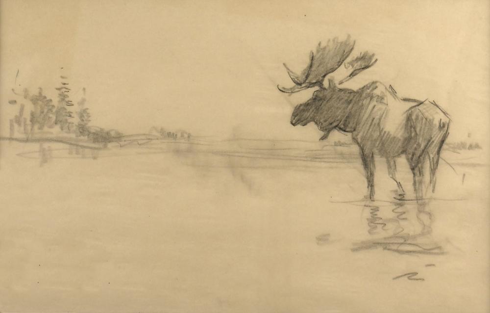 Frank Hoffman, Untitled (Moose in Lake)