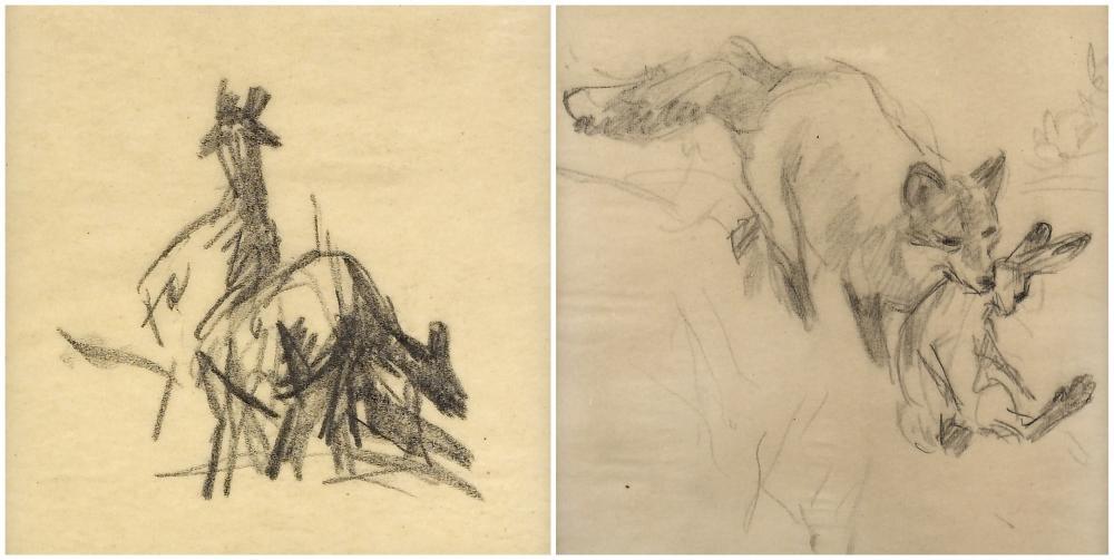 Frank Hoffman, Two Drawings