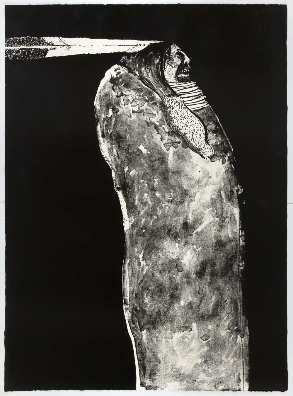 Fritz Scholder, Indian with Feather, 1970
