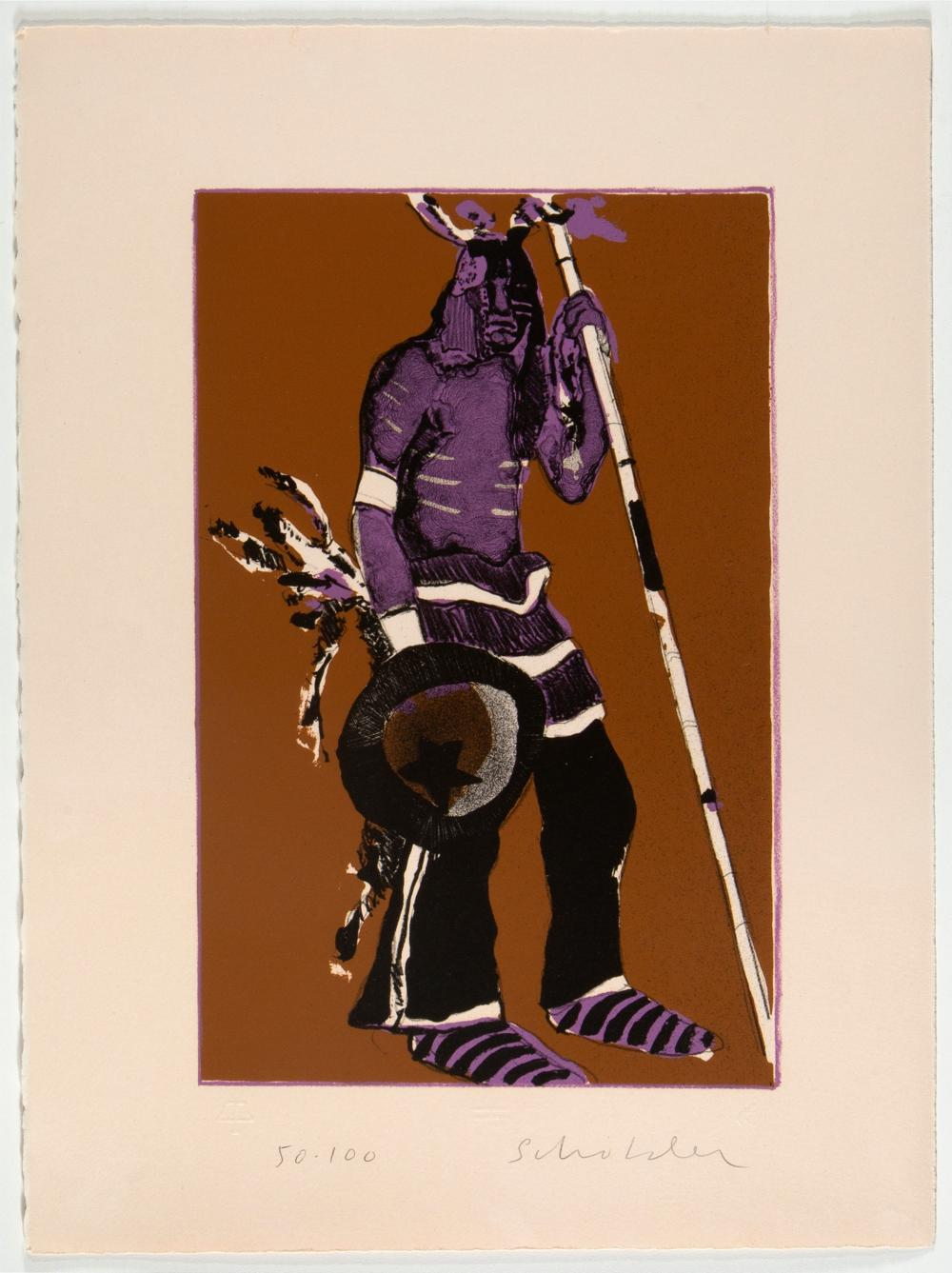 Fritz Scholder, Indian with Shield (First State), 1973