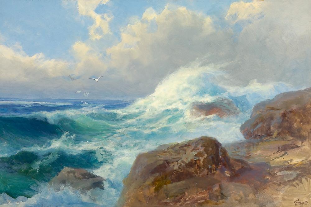 Victor Casenelli, Ocean Spray on Rocks