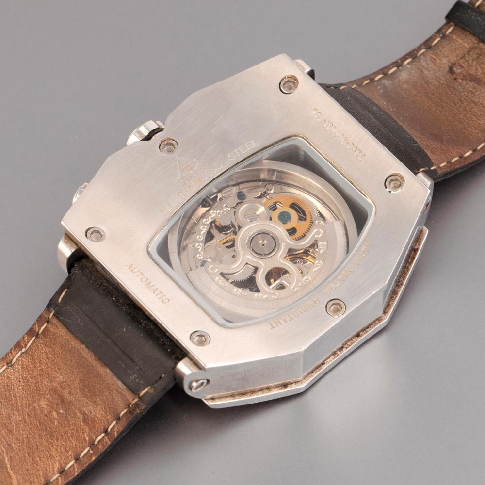 Acid Stainless Steel Automatic Wristwatch