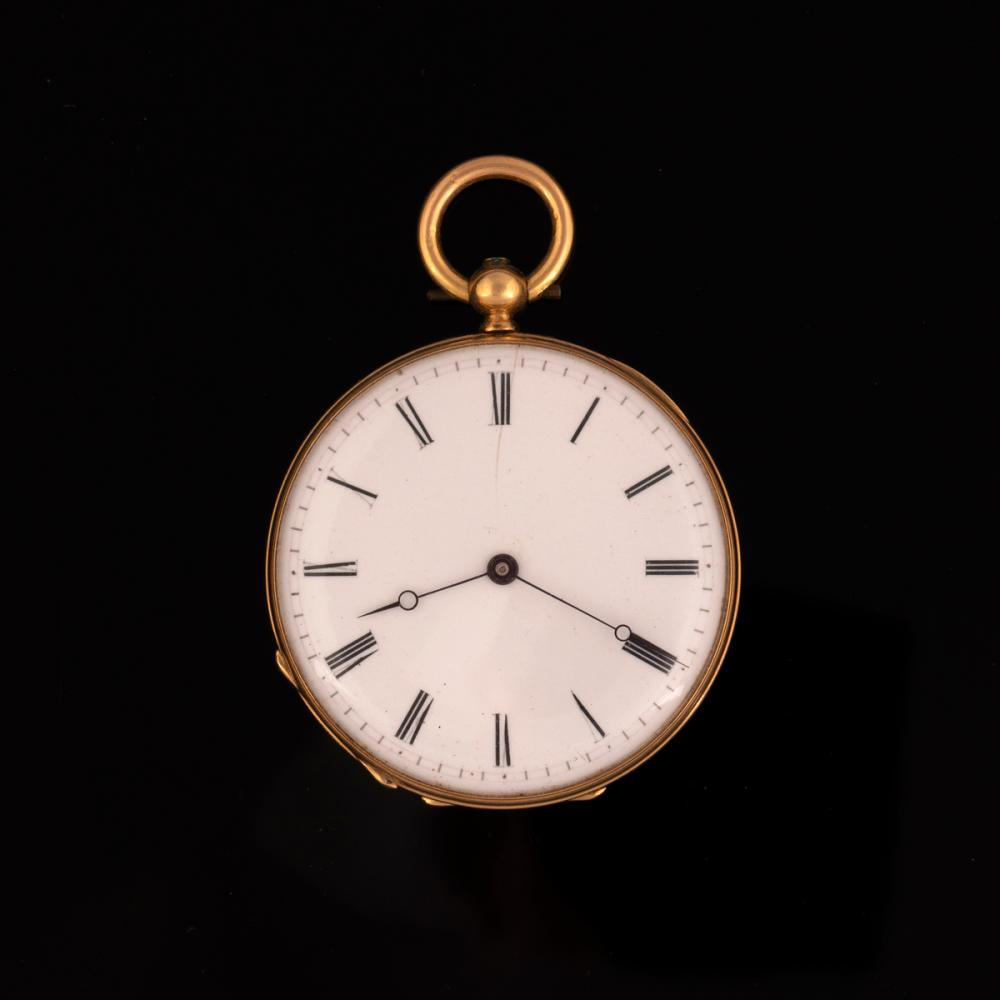 Junod Freres Gold Open Face Watch