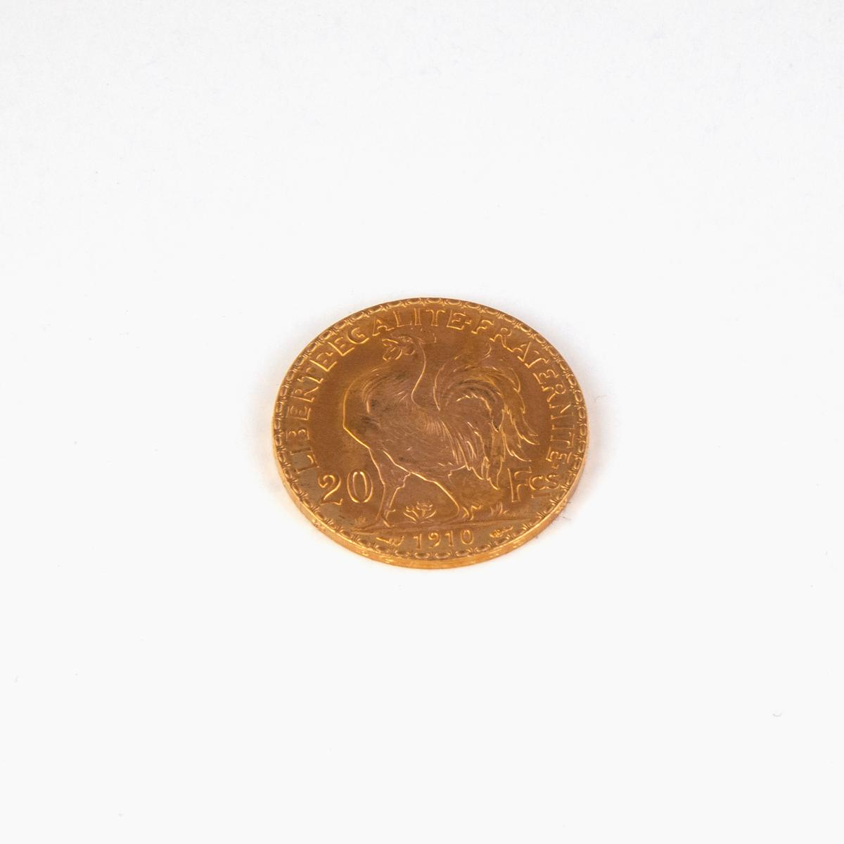 A French Gold Coin, 1910