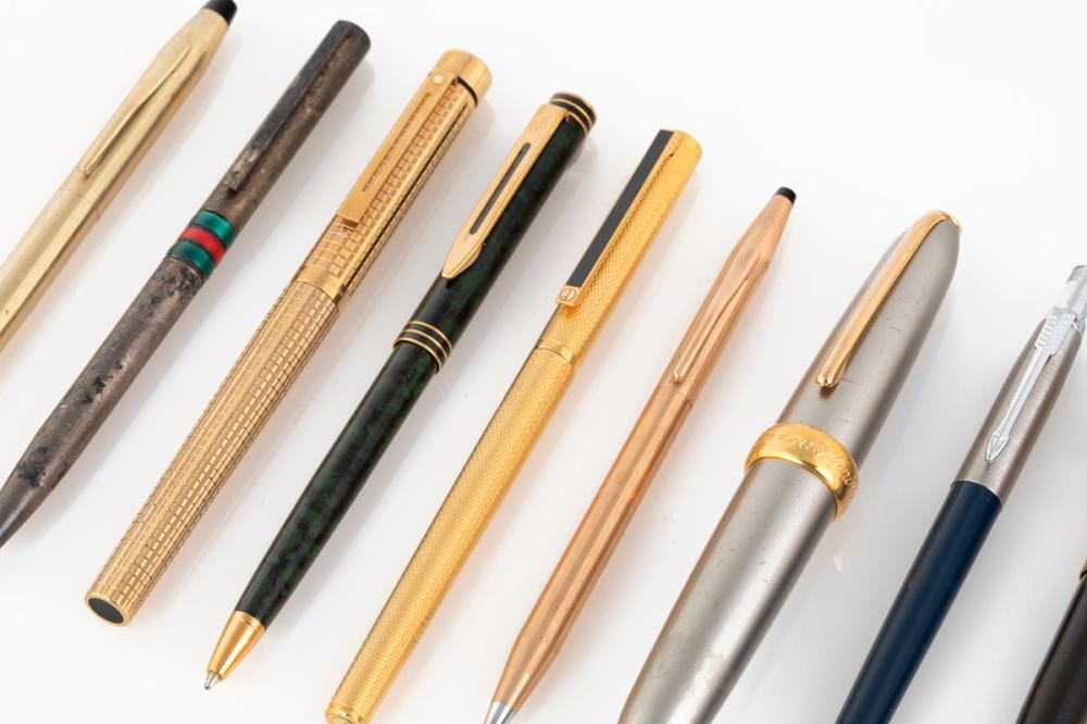 A Group of Nine Ballpoint Pens
