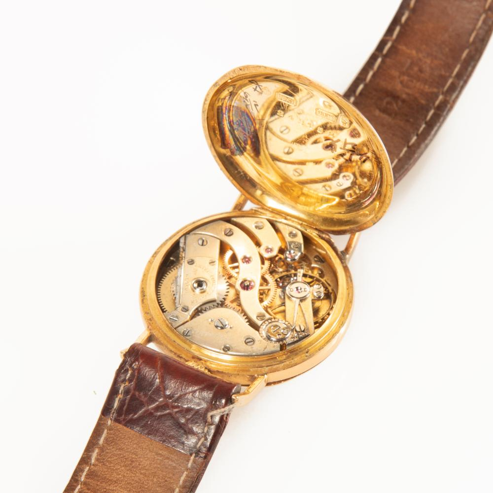 Patek Philippe Yellow Gold Converted Pendant Wristwatch with Enamel Dial