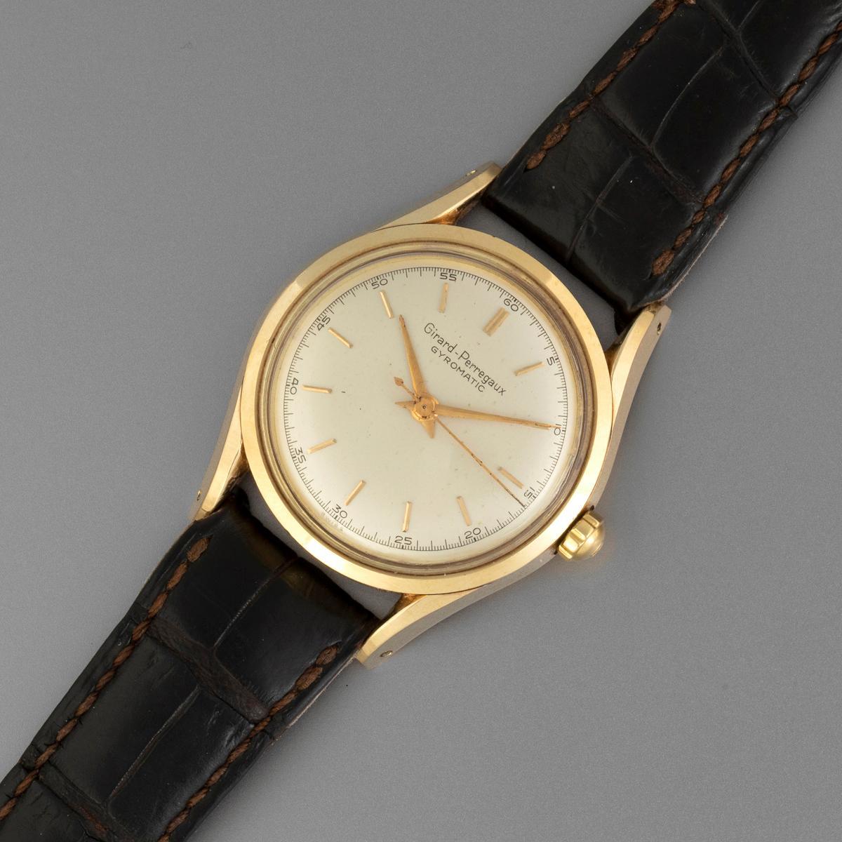 Girard Perregaux Gyromatic Gold Automatic Wristwatch