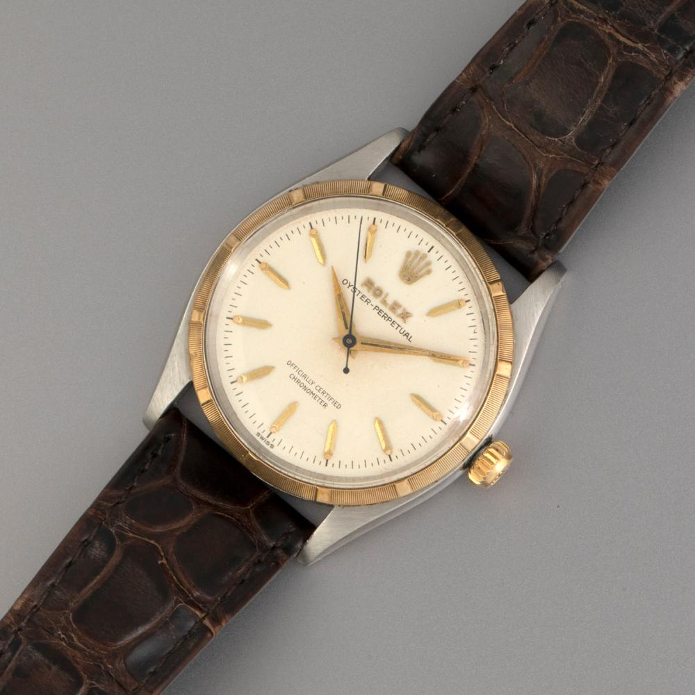 Rolex Ref. 6565 Stainless Steel and Gold Automatic Wristwatch