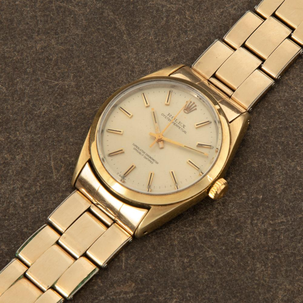 Rolex Ref. 1025/3 1024 Gold Shell Stainless Steel Wristwatch with Bracelet