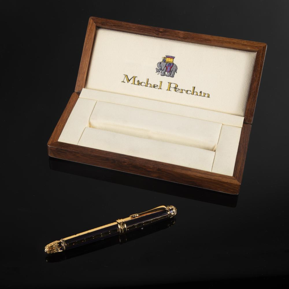 A Michel Perchin Silver Gilt and Enamel Limited Edition Fountain Pen