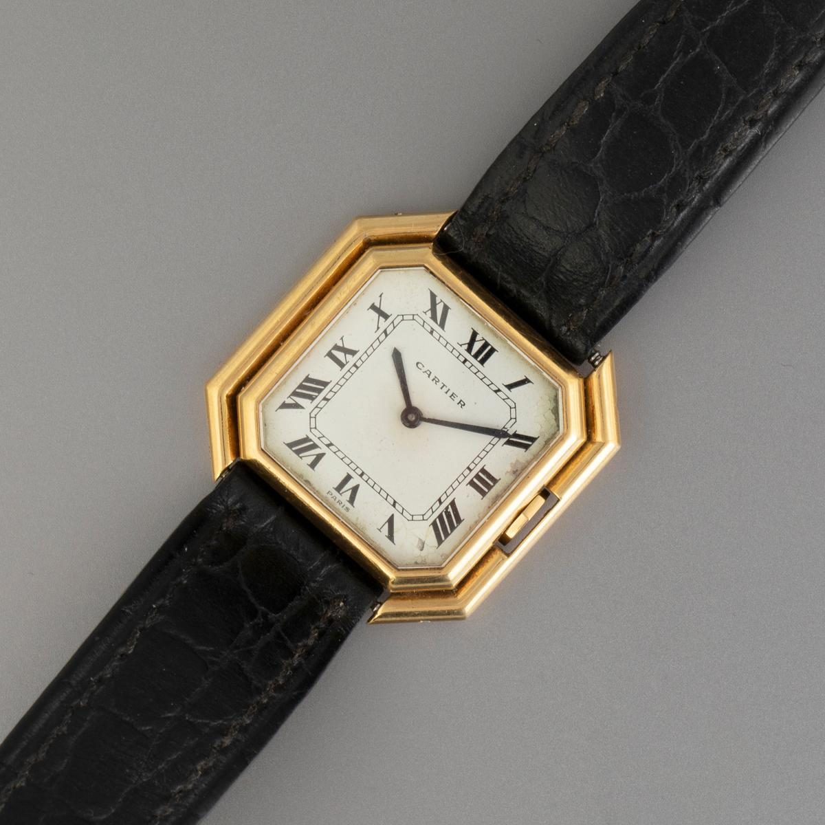 Cartier Ceinture Automatic Gold Wristwatch