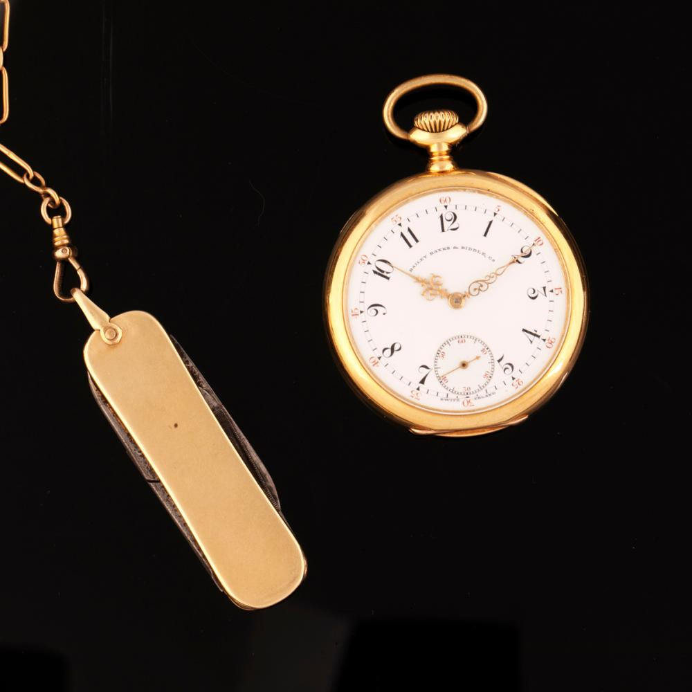 Patek Philippe 'Special' Gold Open Faced Watch Retailed by Bailey Banks & Biddle